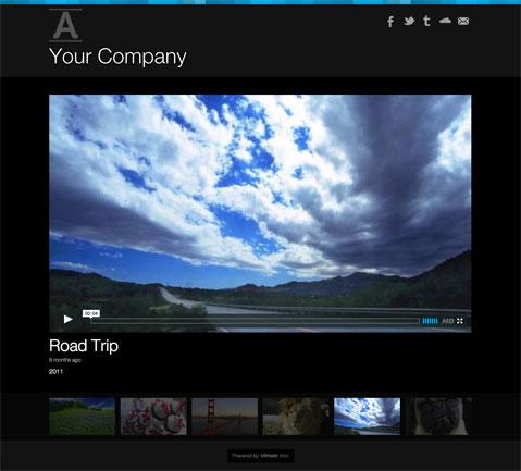 Vimeo Pro Lyra Portfolio Theme